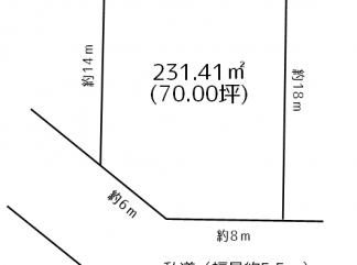 青森市 新城山田666-186 売地