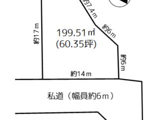 浪岡 徳才子福田 売地(建築条件付)